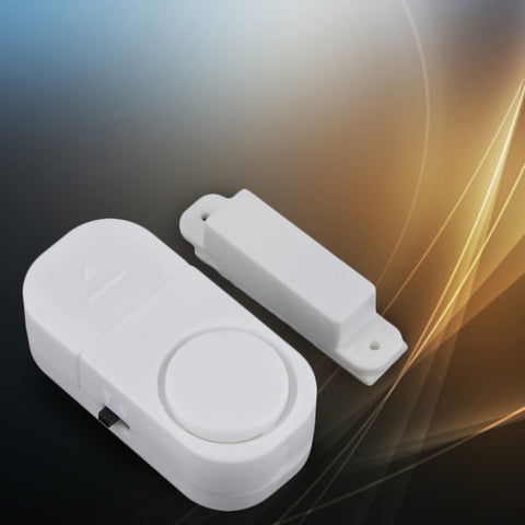 Self-adhesive Wireless Magnetic Sensor Home Door Window Entry Burglar Security Alarm Safety Guardian Protector System White New