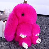 13CM Kawaii Fur Rabbit Small Pendant Keychain Women Bag & Phone Decoration Stuffed & Plush Animals Toys Kids Birthday Gift