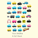 1 Piece Patch With Various Small Ironing Stickers Lovely Micro-Cars Iron On Patches For Clothing Heat Transfer Appliques