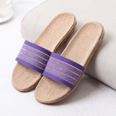 New Summer Home Slipper Women Indoor Bedroom Slippers Woman 22 Gradient Color Plus Size Beach Flat Shoes Women House Slippers