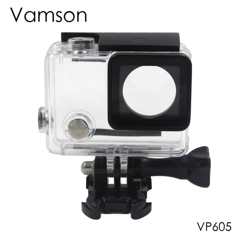 Vamson for Go Pro Accessories Waterproof Case 60m Underwater Diving Shell Cover Housing Skeleton Frame for Gopro Hero 4 3+ VP605
