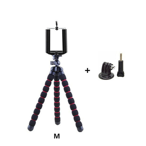 165-280mm sponge mini portable tripods for iphone and android flexible lightweight octopus triopds for gopro,xiaoyi,SJ camera