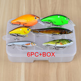 1pc-6pc/Box PRO BEROS Brand High Quality Fishing lure Mixed Size Fishaing bait 6#-10# high carbon steel hook fishing tackle