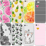 Silicon Case Cover for Coque iPhone 7 4 5S 5C SE 6 6S Plus Phone cases Soft TPU Fundas Fruit Transparent