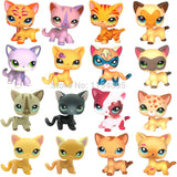 LPS collections cat Short Hair Kitty Rare Old Styles White Pink Tabby Black pink kitten cute Animal Pet Shop Toys
