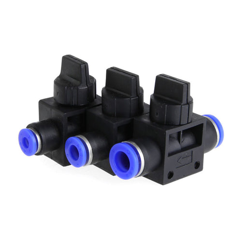 Home Improvement Pneumatic Air 2 Way Quick Fittings Push Connector Tube Hose Plastic 4mm 6mm 8mm Pneumatic Parts YX#