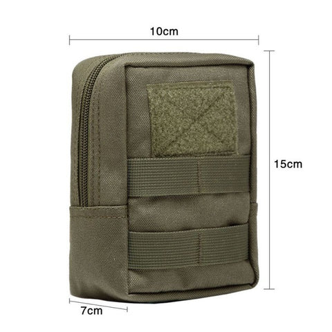 600D Outdoor Military Tactical Waist Bag Multifunctional EDC Molle Tool Zipper Waist Pack Accessory Durable Belt Pouch