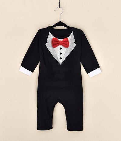 trouser suit for the boy new Newborn Baby Rompers Clothing Gentleman Bow Leisure Infant Toddler Overalls Baby bodysuit costume