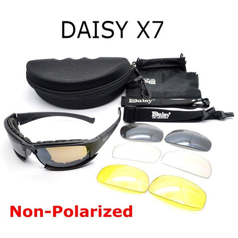 Polarized Tactical daisy X7 C5 Glasses Military Goggles Bullet-proof Army Sunglasses With 4 Lens Men Shooting Eyewear Gafas