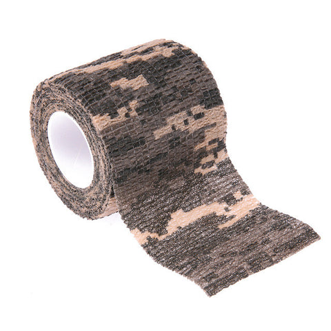 Self-adhesive Non-woven 5cm X 4.5m Military Outdoor Bionic Wrap Camouflage Hunting Cycling Camping Stealth Tape Outdoor Tools