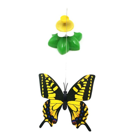 Cat Toys Electric Rotating Colorful Butterfly Funny Pet Seat ScratchToy For Cats Kitten