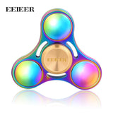 EEIEER Fidget Spinner Metal Rotation High speed Hand Spinners Brass Comes spiner Anti Relieve Stress Toys finger Gift Tri-spiner