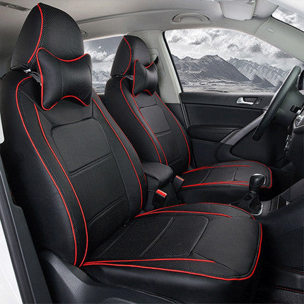 Car Seat Cover PU Leather Seat Covers for Toyota Previa Interior  Accessories Set Car Styling Seat Protector Black Car Seats