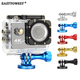 Easttowest For Gopro Mount CNC Aluminum Alloy Tripod Adapter for Gopro Hero 4 3 Xiaomi Yi Sjcam Sj4000 Sj5000 Action Camera
