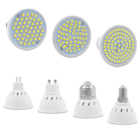 LED Bulb Lamp GU10 E14 E27 MR16 Bombillas Lampada LED SpotLight  3W 5W 7W SMD2835 220V LEDs Lights Bulbs for Home Chandelier