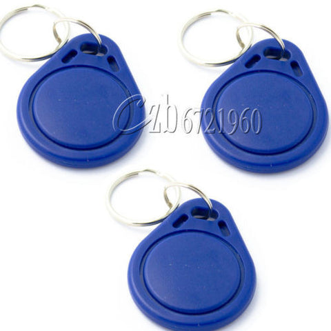 2pcs RFID IC NFC TAG Key Tags Keyfobs Token Keychain 13.56MHz