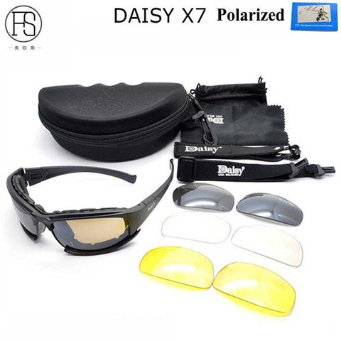 a529574989d Daisy C5 Polarized Sunglasses X7 Airsoft Oculos Paintball Hiking Military  Goggles Hunting Shooting Eyewear