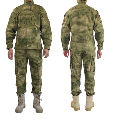 Top Quality Men Women military tactical uniform jacket + pants A TACS FG shirt pants uniform set outdoor hunting ghillie suits