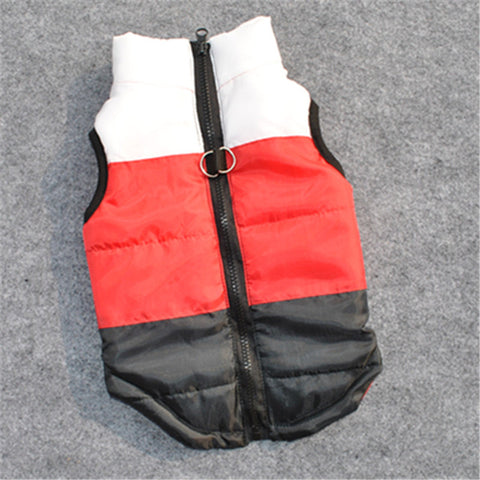 6 Color Large Winter Warm Pet Dog Clothes Vest Harness Puppy Coat Jacket Apparel