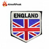 AIRSOFTPEAK Tactical National Flag Patches Embroidery 3D Badge Military Combat Army Armband Backpack Badges