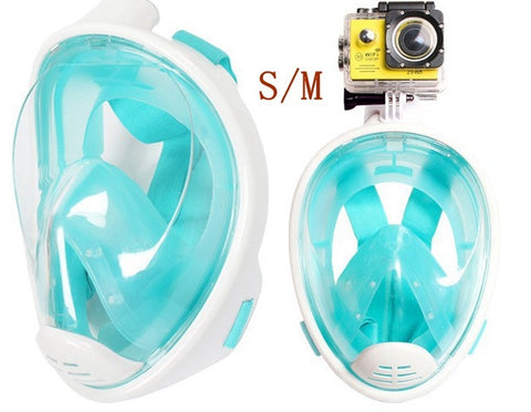 MEIBAI CN/USA Warehouse Anti Fog Snorkeling Set Camera Diving Masks Full Face Scuba Diving Mask Gopro  Snorkel Underwater Scuba