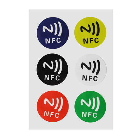 NEW 6pcs/lot NFC Tags NTAG213 Chip 888 Bytse Android Writeable Programmable Smart Tags Smart NFC Tags Stickers
