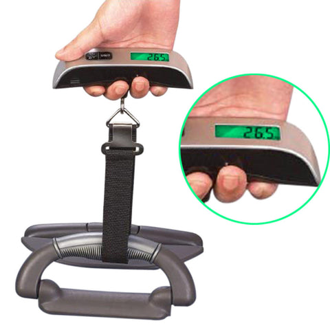 50kg/10g LCD Digital Electronic Hanging Scale Portable Travel Suitcase Luggage Scales Travel Bag Mini Pocket Weight Belt Scales