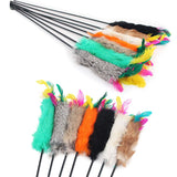 New 55cm Fun  Pets Stick Toys Cats Toys Feather Wand Rod For Cat Catcher Teaser Toy For Pet Kitten Jumping Trainning