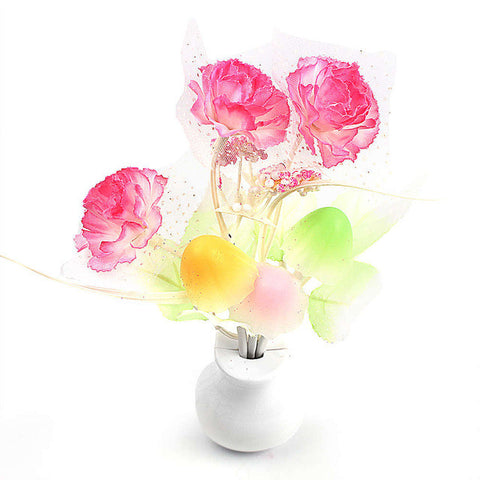 Lilac Light Sensor Home Bedroom Decoration Mushroom Flower Plant US Plug Colorful Nightlights Luminaria LED Night Light Lamp