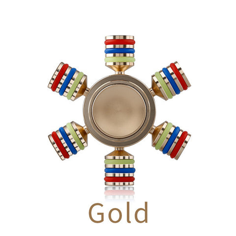 Hexagonal Metal Fidget Puzzle Spinner Detachable Waterproof Spinner EDC Hand Rudder Finger Spinner Relieve Stress Adult Kid Toy