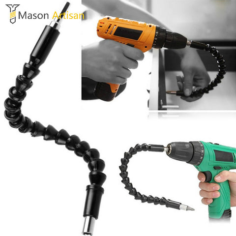 Mason 290mm Flexible Bits Extension Bit Holder with Magnetic Quick Connect Drive Shaft Electric Drill Power Tool Accessories