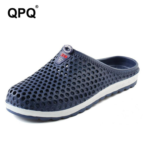 Fashion Men Slippers Breathable Beach Sandals Slip on Plastic Versa Shoes Croc Light Casual Sandals Water Shoes For Summer  XC16