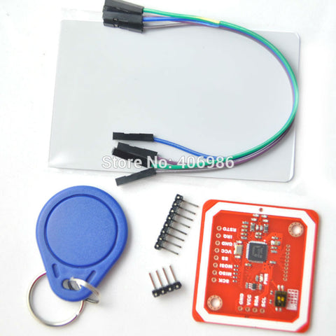 PN532 NFC RFID module V3 kits -- NFC with Android phone with Card Tag Ring Cable Pin FZ0054