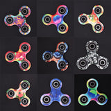 Colorful Tri-Spinner Fidget Toy EDC Sensory Hand Fidget EDC Spinner for ADD and ADHD Sufferers Stress Relieve Focus Finger Gyro