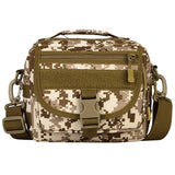 Outdoor Tactical Military Assault Bag Pack MOLLE Small Pockets Man Waterproof Nylon Crossbody Bag