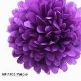 Tissue Paper Flower Pom Pom Rose Ball 5pcs 15-25cm Hanging Paper Garland Baby Shower Wedding Party Decoration Craft DIY Supplies