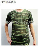 Marine camouflage desert training  jungle camouflage  suit military field training men short-sleeved camouflage T-shirt S-4XL