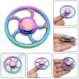 Round Toy Spinner Anti Stress Fidget Toys Fingertip Gyro Decompression Spinner Cool Gifts for Adult Children Wholesale
