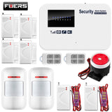 English Russian Spanish Version Wireless Home Security GSM Alarm System with Relay IOS Android APP Control Intercom Auto Dial