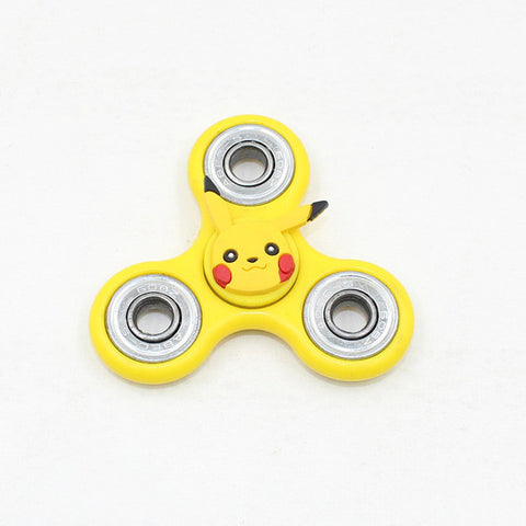 Cartoon Pikachu Stitch Captain American Hand Spinner Metal Fidget Spinner Finger Spinner Tri-Spiner Fidget Toys for Autism