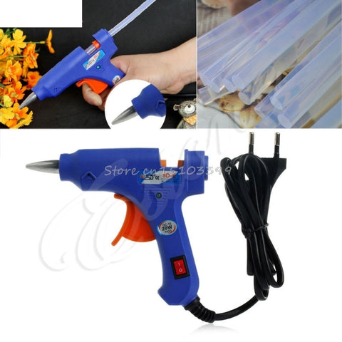 New 20W SD-E Hot Stick Heater Trigger EU Plug Electric Melt Glue Gun Repair Tool #G205M# Best Quality