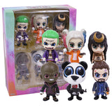 Suicide Squad The Joker Harley Quinn Killer Croc Captain Boomerang Panda Man Enchantress 6-pack PVC Figures Collectible Toys