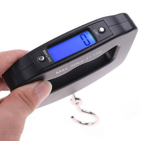 50kg x 10g Mini Portable Electronic Scale Weight Luggage Balance Scale Digital Travel Hanging Hook Scale