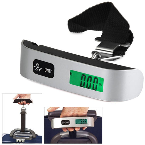 1Pc Original 50kg/10g T-Shaped LCD Backlight Digital Hanging Luggage Scale Travel Weight Brand New