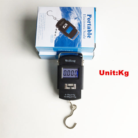 Portable 50kg*5g LCD Display Digital Hanging Scales Electronic Luggage Weight Fishing Hook Scale Weighing Scales