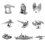 Mini DIY Assembly 3D Metal Puzzle Full Set Star War R2D2 X-Wing AT-AT  Adult Jigsaw Tank Model Children's Educational Toys