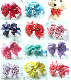 100pcs Choose Style Dog Bow Ties Pet Necktie Popular Designs Bowtie Collar Pet Puppy Dog Ties Accessories Dog Grooming Supplies