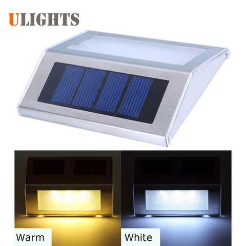 Outdoor LED Solar Power Energy Light Sun power Home Garden Yard Path Street Stair Fence Landscape Security Wall Lamp Night Light