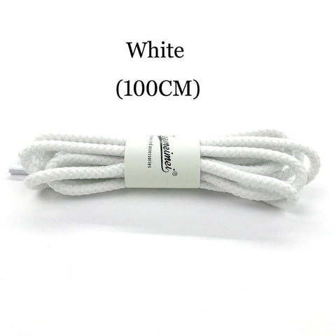 14 Colors 100cm Sneaker Round Shoelaces Solid Polyester Twisted Boots Shoes Laces High Quality Brand Fashion Lacet Chaussure