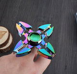 NEW Metal Tri-Spinner Fidget Cool Finget spinner Decompression Toys Colorful spinner EDC Gyro spiner Toys With Retail Box